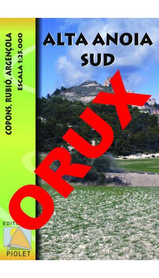Alta Anoia Sud. Copons, Rubió, Argençola. Digital OruxMaps 1:25.000
