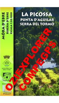 La Picossa. Punta d'Aguilar. Serra del Tormo. Móra d'Ebre. Ribera d'Ebre. Digital CompeGps/Oziexplorer 1:20.000