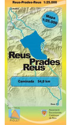 Mapa Caminada Reus-Prades-Reus 1:25.000