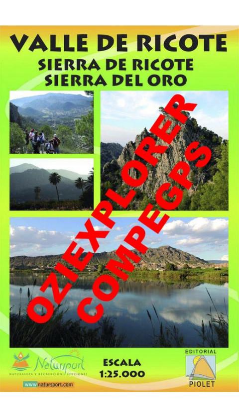 Valle de Ricote. Sierra de Ricote. Sierra del Oro. Digital CompeGps/Oziexplorer 1:25.000