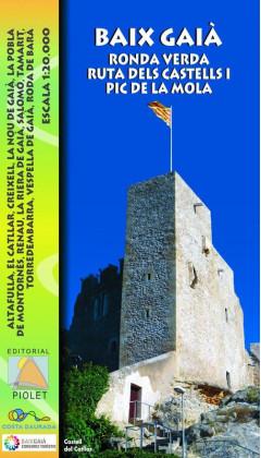 Mapa Baix Gaià. Ronda Verda, Ruta dels Castells i Pic de la Mola 1:20.000 1a ed