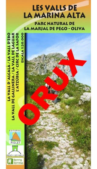 Les Valls de la Marina Alta. Parc Natural de la Marjal de Pego-Oliva. Digital OruxMaps 1:20.000 1a ed