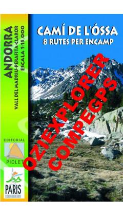 Camí de l'Óssa. Andorra. Vall del Madriu-Perafita-Claror. 8 Rutes per Encamp. Digital CompeGps/Oziexplorer 1:15.0000 1a ed
