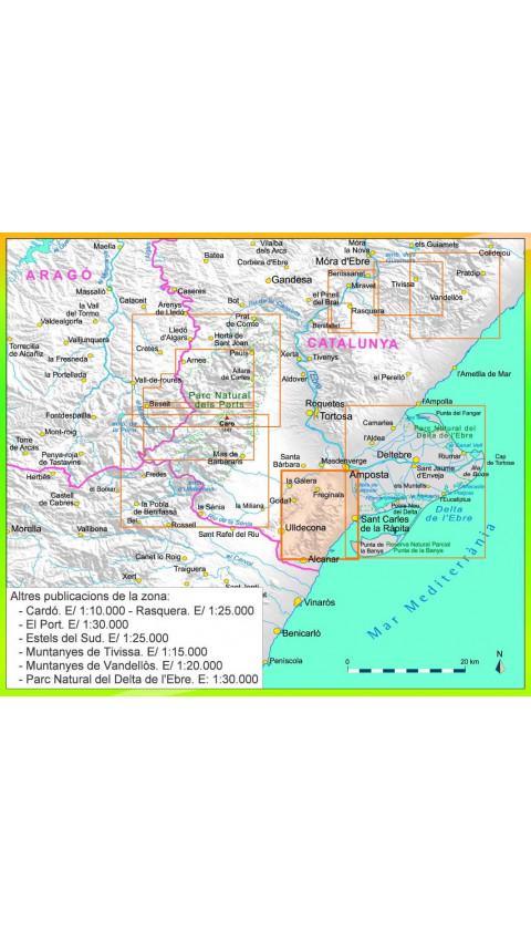Serra de Montsià. Digital CompeGps/Oziexplorer 1:20.000 1a ed