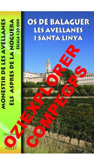 Os de Balaguer, Les Avellanes i Santa Linya. Digital CompeGps/Oziexplorer 1:20.000 1a ed