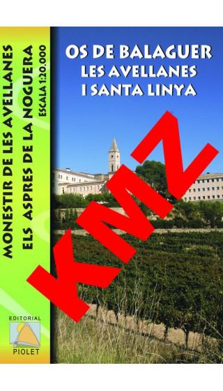 Os de Balaguer, Les Avellanes i Santa Linya. Digital Kmz (Garmin, Google Earth) 1:20.000 1a ed