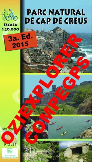 Parc Natural de Cap de Creus. Digital CompeGps/Oziexplorer 1:20.000 3a ed