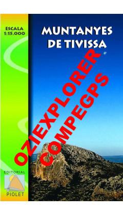 Muntanyes de Tivissa. Digital CompeGps/Oziexplorer 1:15.000 1a ed
