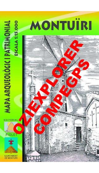 Montuïri. Mapa arqueòlogic i patrimonial. Digital CompeGps/Oziexplorer 1:15.000 1a ed