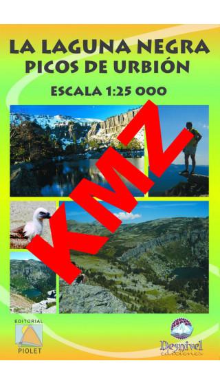 La Laguna Negra. Picos de Urbión. Digital Kmz (Garmin, Google Earth) 1:25.000 1a ed
