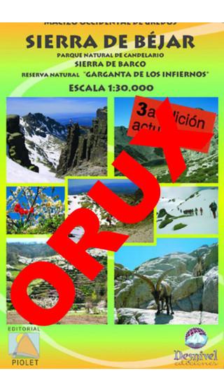 Sierra de Béjar. Parque Natural de Candelario. Sierra de Barco. Reserva Natural 'Garganta de los Infiernos'. Digital OruxMaps 1: