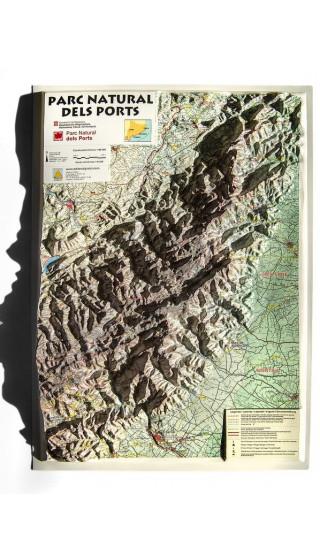 Mapa Parc Natural dels Ports. Mapa en relieve 1:90.000 1a ed