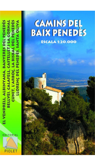 Mapa Camins del Baix Penedès, El Vendrell, Albinyana, Banyeres del Penedès, Bellvei, Calafell, Castellet i la Gornal, Cunit, L'A