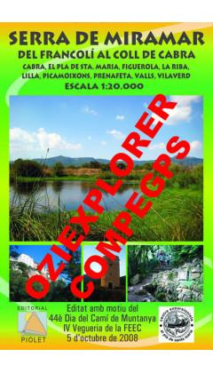 Serra de Miramar. Del Francolí al Coll de Cabra. Digital CompeGps/Oziexplorer 1:20.000 1a ed
