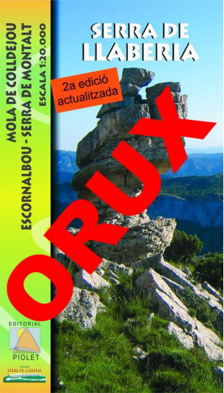 Serra de Llaberia. Mola de Colldejou, Escornalbou, Serra de Montalt. Digital OruxMaps 1:20.000 2a ed