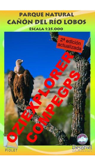 Parque Natural Cañon del Río Lobos. Digital CompeGps/Oziexplorer 1:25.000 2a ed