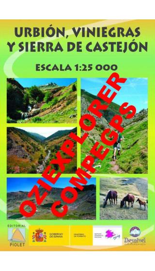 Urbión, Viniegras y Sierra de Castejón. Digital CompeGps/Oziexplorer 1:25.000 1a ed