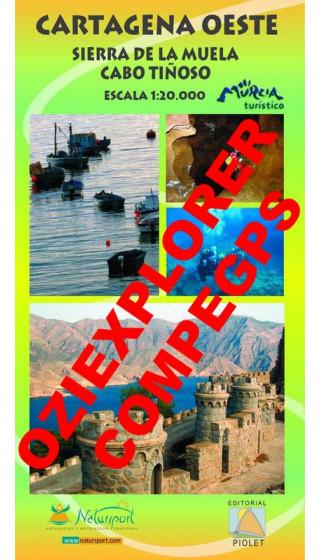 Cartagena Oeste. Sierra de la Muela. Cabo Tiñoso. Digital CompeGps/Oziexplorer 1:20.000 1a ed