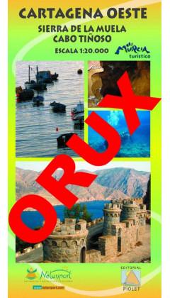 Cartagena Oeste. Sierra de la Muela. Cabo Tiñoso. Digital OruxMaps 1:20.000 1a ed
