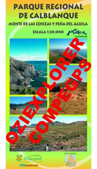 Parque Regional de Calblanque. Monte de las Cenizas y Peña del Águila. Digital CompeGps/Oziexplorer 1:20.0000 1a ed