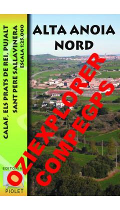 Alta Anoia Nord. Calaf, Els Prats de Rei, Pujalt, Sant Pere Sallavinera. Digital CompeGps/Oziexplorer 1:25.000