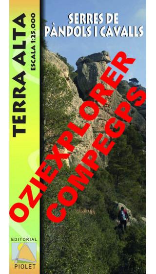 Serres de Pàndols i Cavalls. Terra Alta. Digital CompeGps/Oziexplorer 1:25.000 1a ed