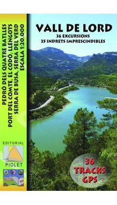 Mapa Vall de Lord. Pedró dels Quatre Batlles, Port del Comte, El Codó, Llengots, Serra de Busa, Serra del Verd. 36 Excursions. 3