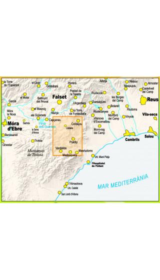 Mapa Marxa dels Dips. Pratdip, Colldejou, Vandellòs, Tivissa, Capçanes 1:20.000 1a ed
