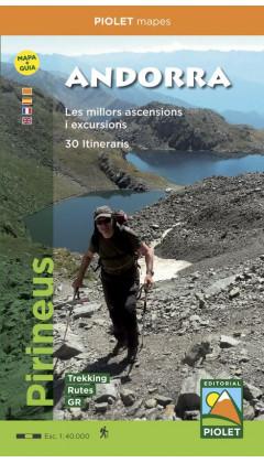 Andorra. Pirineus. Mapa+Guia. Les millors ascensions i excursions. 30 Itineraris 1:40.000 1a ed