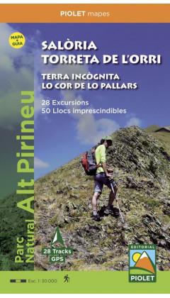 Mapa Salòria. Torreta de l'Orri. Terra Incògnita. Lo Cor de lo Pallars. Parc Natural Alt Pirineu. 28 Excursions. 50 Llocs impres
