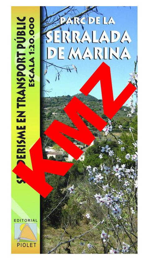 Parc de la Serralada de Marina. Senderisme en transport públic. Digital Kmz (Garmin, Google Earht) 1:20.000 1a ed