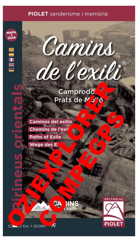 Caminos del exilio. Camprodon. Prats de Molló. Pirineus Orientals. Cuaderno de viaje + Mapa Digital CompeGps/Oziexplorer 1:25.00