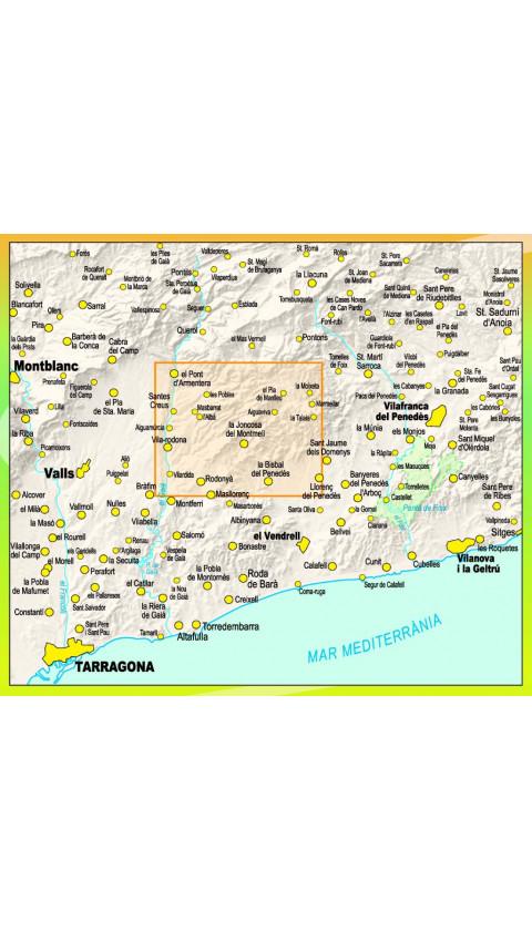 Mapa El Montmell. La Joncosa del Montmell, Selma, El Pla de Manlleu, Marmellar 1:20.000 2a ed