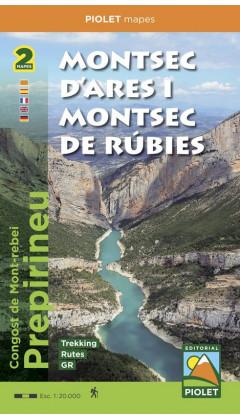 Mapa Montsec d'Ares i Montsec de Rúbies o de Meià. Congost de Mont-rebei. Prepirineu. Carpeta 2 mapes 1:20.000 1a ed