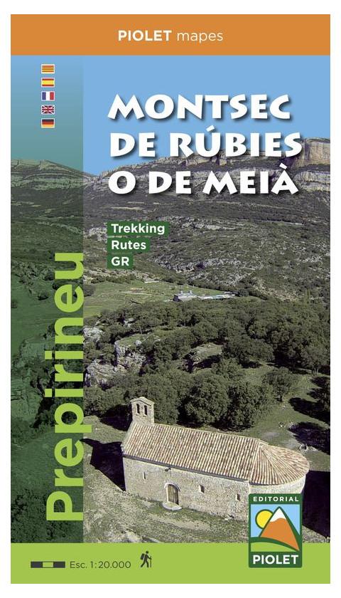 Montsec d'Ares i Montsec de Rúbies o de Meià. Congost de Mont-rebei. Prepirineu Digital CompeGps/Oziexplorer1:20.000 1a ed