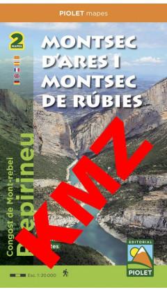 Montsec d'Ares i Montsec de Rúbies o de Meià. Congost de Mont-rebei. Prepirineu Digital Kmz (Garmin, Google Earth) 1:20.000 1a e
