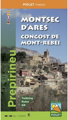 Mapa Montsec d'Ares. Congost de Mont-rebei. Prepirineu 1:20.000 1a ed
