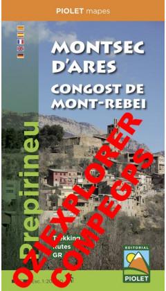 Montsec d'Ares. Congost de Mont-rebei. Prepirineu Digital CompeGps/Oziexplorer1:20.000 1a ed