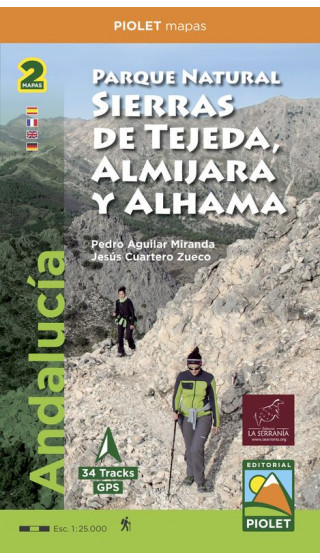 Mapa Parque Natural Sierras de Tejeda, Almijara yAlhama (Este, Oeste) 1:25.000 1a ed