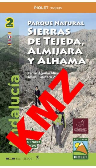 Parque Natural Sierras de Tejeda, Almijara yAlhama (Este, Oeste). Digital Kmz (Google Earth, Garmin)  1:25.000 1a ed