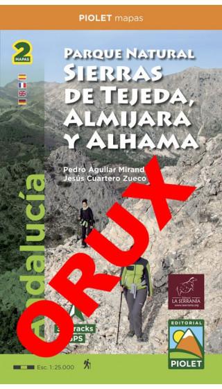 Parque Natural Sierras de Tejeda, Almijara yAlhama (Este, Oeste). Digital OruxMaps  1:25.000 1a ed