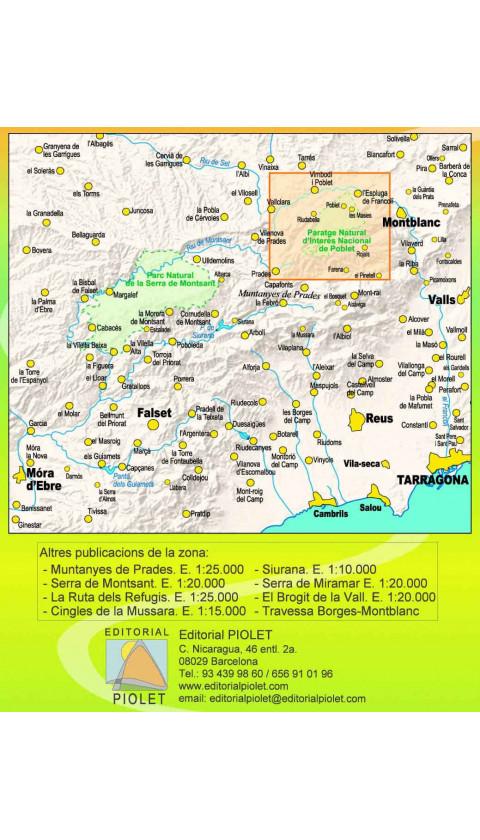 Mapa Paratge Natural d'Interès Nacional de Poblet. El Bosc de Poblet. 1:15.000 2a ed