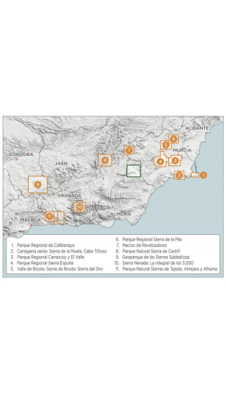 Mapa Parque Natural Sierra María - Los Vélez 1:30.000 1a ed