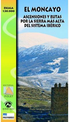 Mapa El Moncayo. Ascensiones y rutas por la sierra más alta del Sistema Ibérico 1:30.000 1a ed