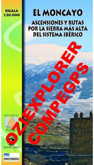 El Moncayo. Ascensiones y rutas por la sierra más alta del Sistema Ibérico. Digital CompeGps/Oziexplorer 1:30.000 1a ed