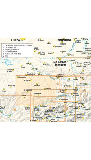 Paisatges de l'oli a les Garrigues Altes. Formato Digital (Compegps/Oziexplorer)  Guia + mapa 1:20.000 1a ed