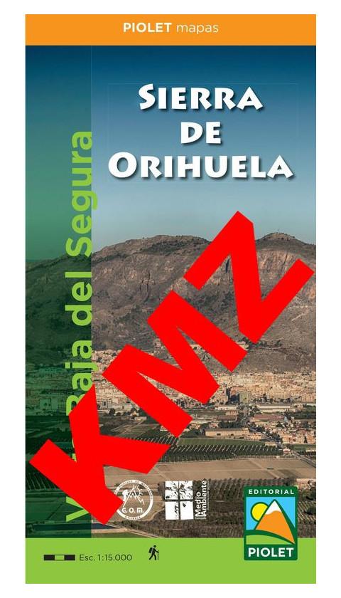 Sierra de Orihuela. Vega Baja del Segura. Formato digital Kmz / Jnx (Google Earth / Garmin) 1:15.000 1a ed