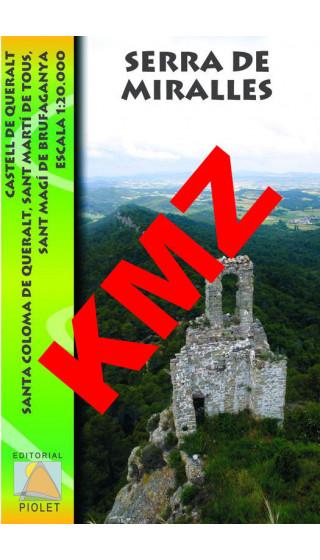Serra de Miralles. Castell de Queralt. Sta. Coloma de Queralt. St. Martí de Tous. Sant Magí de Brufaganya. Digital Kmz, Jnx (Goo
