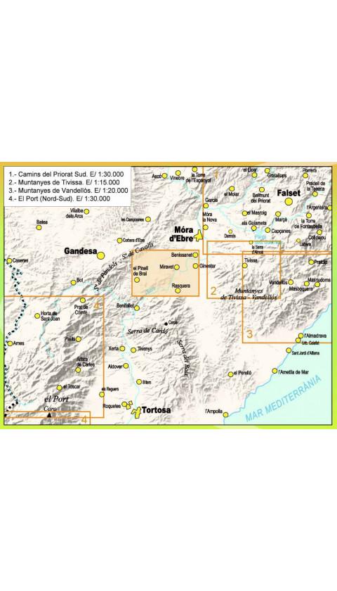 Mapa Miravet. Els Senders de la Cameta Coixa 1:20.000 1a ed
