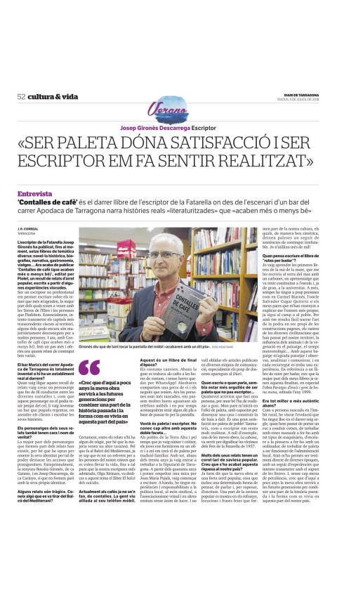 Contalles de cafè (que acabem més o menys bé). Josep Gironès. 1a ed 2018. Idioma: català